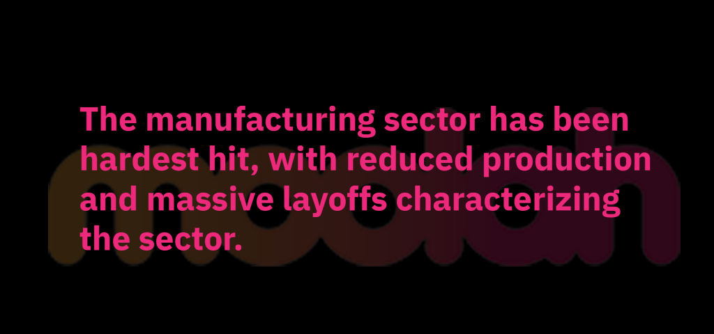 Less production and layoffs by the manufacturing sector is one of the factors for the declining inflation rate in Kenya